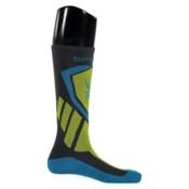 Spyder Venture Kids Ski Socks, Polar-Sulfur-Electric Blue, medium