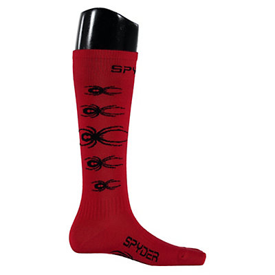 Spyder Bug Out Kids Ski Socks, Red-Black, viewer