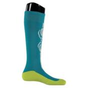 Spyder Swerve Girls Ski Socks, Bluebird, medium