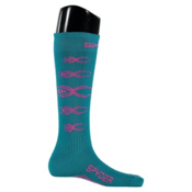 Spyder Bug Out Girls Ski Socks, Bluebird-Bryte Bubblegum, medium