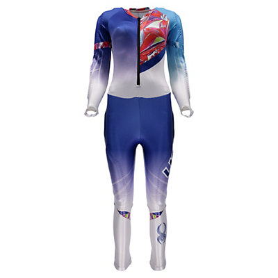Spyder Performance GS Girls Race Suit, White-Bryte Pink, viewer
