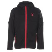 Spyder Upward Mid WT Kids Sweater, Black-Red, medium