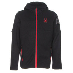 Spyder Upward Mid WT Kids Sweater, Black-Red, 256