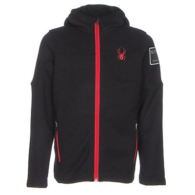 Spyder Upward Mid WT Kids Sweater, Black-Red, viewer