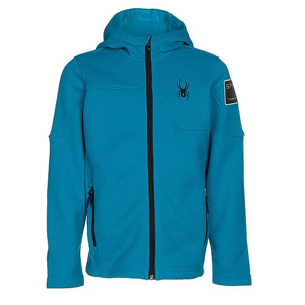 Spyder Upward Mid WT Kids Sweater, Electric Blue-Black, 600