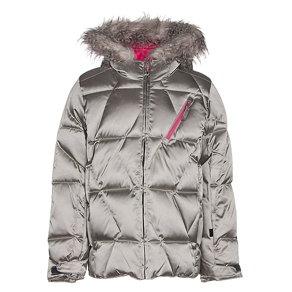 Spyder Hottie Girls Ski Jacket, Silver-Bryte Bubblegum, 600