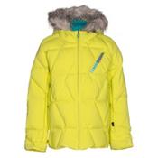 Spyder Hottie Girls Ski Jacket, Acid-Harmony Bluebird Print, medium