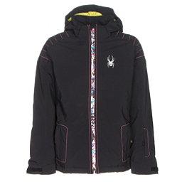 Spyder Glam Girls Ski Jacket, Black-Kaleidoscope White Print, 256