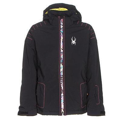 Spyder Glam Girls Ski Jacket, Black-Kaleidoscope White Print, viewer