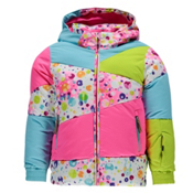 Spyder Bitsy Duffy Puff Toddler Girls Ski Jacket, Party Multi Print-Bryte Bubble, medium