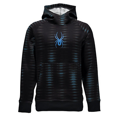 Spyder Edge Kids Hoodie, Space Armor El Blue Print-Elec, viewer