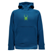 Spyder Edge Kids Hoodie, Concept Blue-Bryte Green, medium