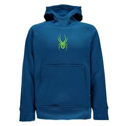 Spyder Edge Kids Hoodie, Concept Blue-Bryte Green, 256