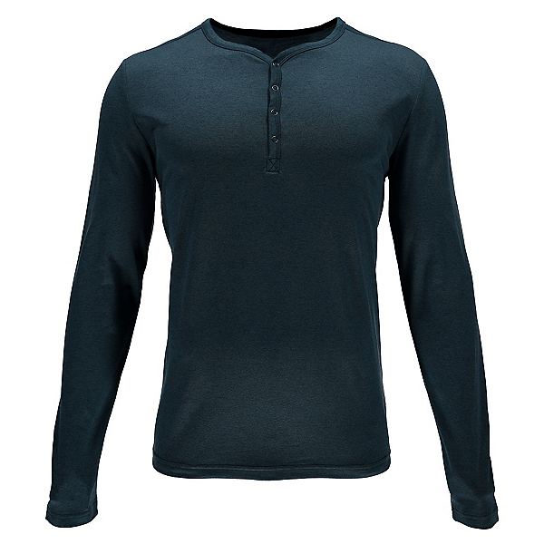 Spyder Steward Henley Mens Shirt, Union Blue, 600