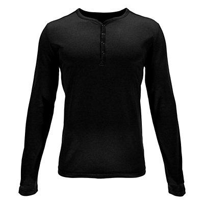 Spyder Steward Henley Shirt, Black, viewer