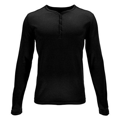 Spyder Steward Henley Mens Shirt, Black, viewer