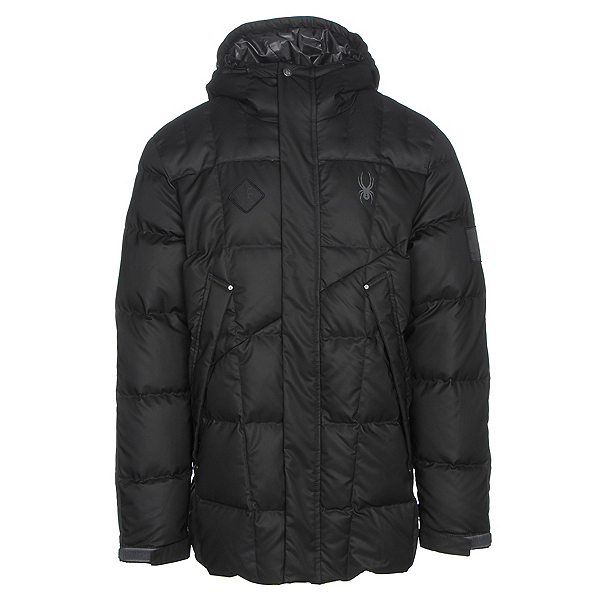 Spyder Diehard Parka Mens Jacket, Black-Polar, 600