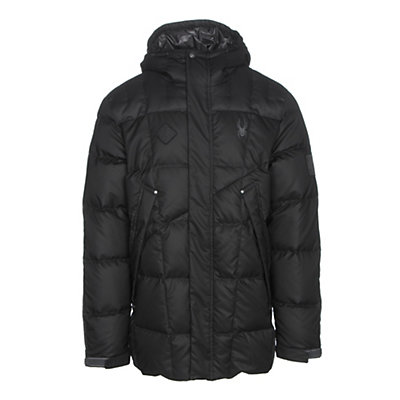 Spyder Diehard Parka Mens Jacket, Black-Polar, viewer