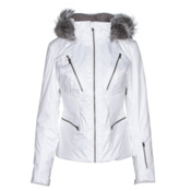 Spyder Posh Womens Insulated Ski Jacket, White, medium