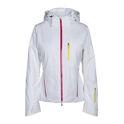 Spyder Fraction Womens Insulated Ski Jacket, White-Voila-Acid, viewer