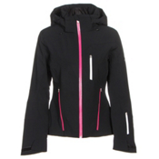 Spyder Fraction Womens Insulated Ski Jacket, Black-Voila-White, medium