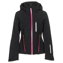 Spyder Fraction Womens Insulated Ski Jacket, Black-Voila-White, 256
