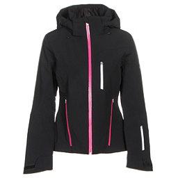 Spyder Fraction Womens Insulated Ski Jacket, Black-Voila-White, 256