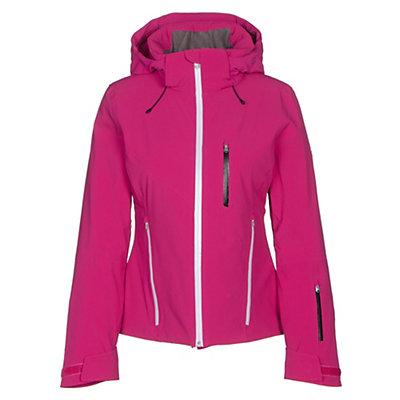 Spyder Fraction Womens Insulated Ski Jacket, White-Voila-Acid, viewer