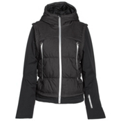 Spyder Moxie Womens Insulated Ski Jacket, Black Denim-Black-Silver, medium