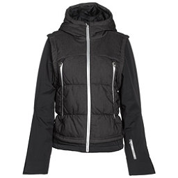 Spyder Moxie Womens Insulated Ski Jacket, Black Denim-Black-Silver, 256