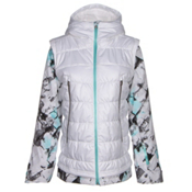 Spyder Moxie Womens Insulated Ski Jacket, White-Frozen Freeze Print-Freeze, medium