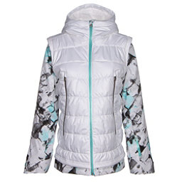 Spyder Moxie Womens Insulated Ski Jacket, White-Frozen Freeze Print-Freeze, 256