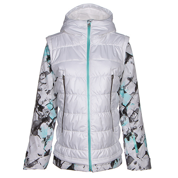Spyder Moxie Womens Insulated Ski Jacket (Previous Season), White-Frozen Freeze Print-Freeze, 600