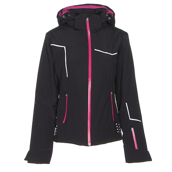 Spyder Project Womens Insulated Ski Jacket, Black-Voila-White, 600