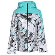Spyder Syncere Womens Insulated Ski Jacket, Frozen Freeze Print-Freeze-Bla, medium