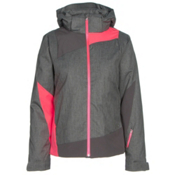 Spyder Lynk 321 Womens Insulated Ski Jacket, Weld Crosshatch-Weld-Bryte Pin, medium