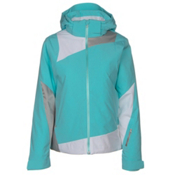 Spyder Lynk 321 Womens Insulated Ski Jacket, Freeze-White-Silver, medium