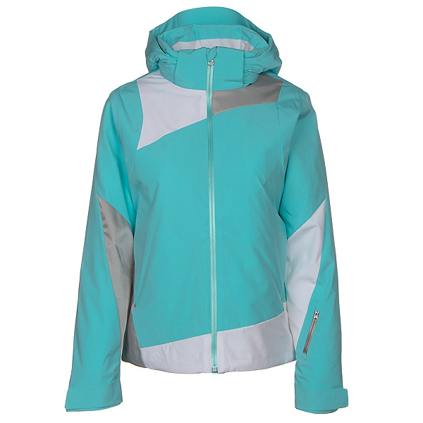 Spyder Lynk 321 Womens Insulated Ski Jacket, Freeze-White-Silver, 600