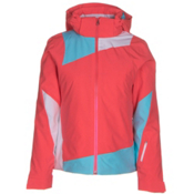 Spyder Lynk 321 Womens Insulated Ski Jacket, Bryte Pink-Bryte Pink-White, medium