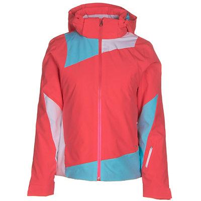 Spyder Lynk 321 Womens Insulated Ski Jacket, Bryte Pink-Bryte Pink-White, viewer