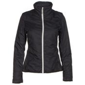Spyder Glissade Womens Jacket, Black-Cirrus-Silver, medium