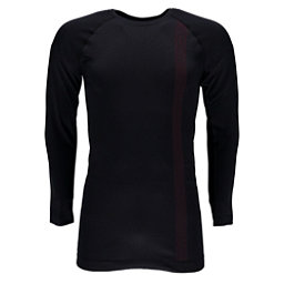 Spyder Crest Boxed Mens Long Underwear Top, Black-Red, 256