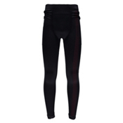 Spyder Crest Mens Long Underwear Pants, Black-Red, medium