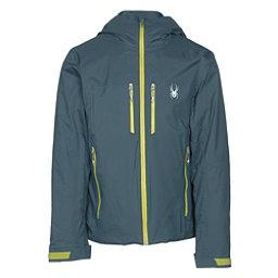 Spyder Pryme Mens Insulated Ski Jacket, Union Blue-Sulfur, 256