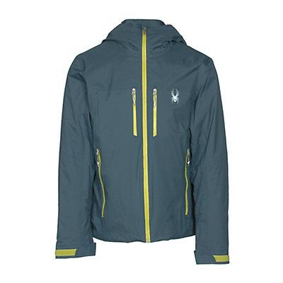 Spyder Pryme Mens Insulated Ski Jacket, Union Blue-Sulfur, viewer