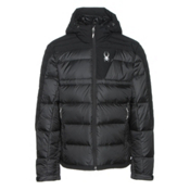 Spyder Bernese Down Mens Jacket, Black-Black-Black, medium