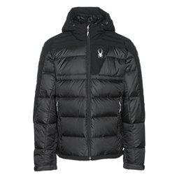 Spyder Bernese Down Mens Jacket, Black-Black-Black, 256