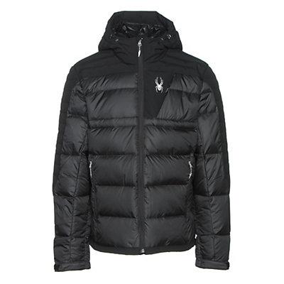 Spyder Bernese Down Mens Jacket, Black-Black-Black, viewer