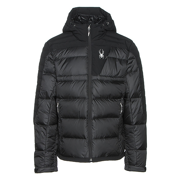 Spyder Bernese Down Mens Jacket, Black-Black-Black, 600