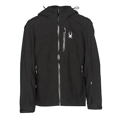 Spyder Jagged Mens Shell Ski Jacket, Black-Black, viewer